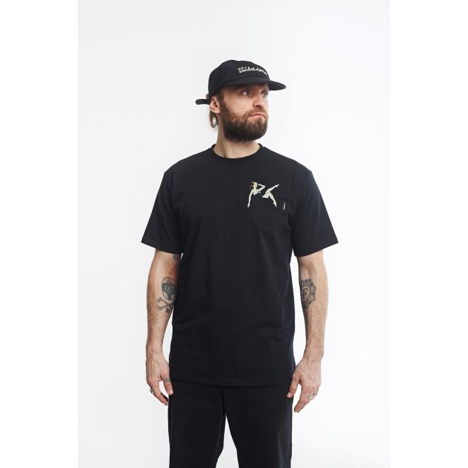 T-shirt Champagne Pocket ST- Black SS18